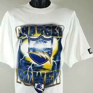 NOS 90s Vintage San Diego Chargers T Shirt XL